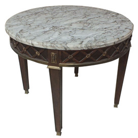 J&M Vintage+Dallas+Marble+Side+Table